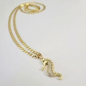 Women's necklace with seahorse charm